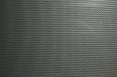 Technology background with seamless circle perforated carbon speaker grill texture for internet sites, web user interfaces (ui) and applications (apps)