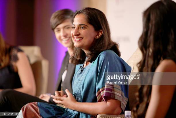 Speaker Mallika Chopra onstage during the Visionary Women's Salon Mind Body and Soul at Montage Beverly Hills on March 30 2017 in Beverly Hills...