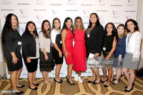 Speaker Norma Bastidas moderator Shaun Robinson and Cal State Northridge students attend Visionary Women present Grit Guts and Grace Lessons in...