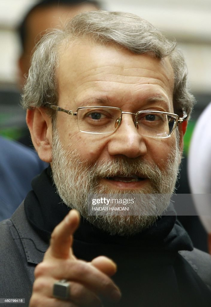 Speaker of Iran's parliament <a gi-track='captionPersonalityLinkClicked' href=/galleries/search?phrase=Ali+Larijani&family=editorial&specificpeople=572030 ng-click='$event.stopPropagation()'>Ali Larijani</a> visits Iraq's Shiite Muslim holy city of Najaf, about 160 kilometres south of Baghdad, on December 23, 2014.