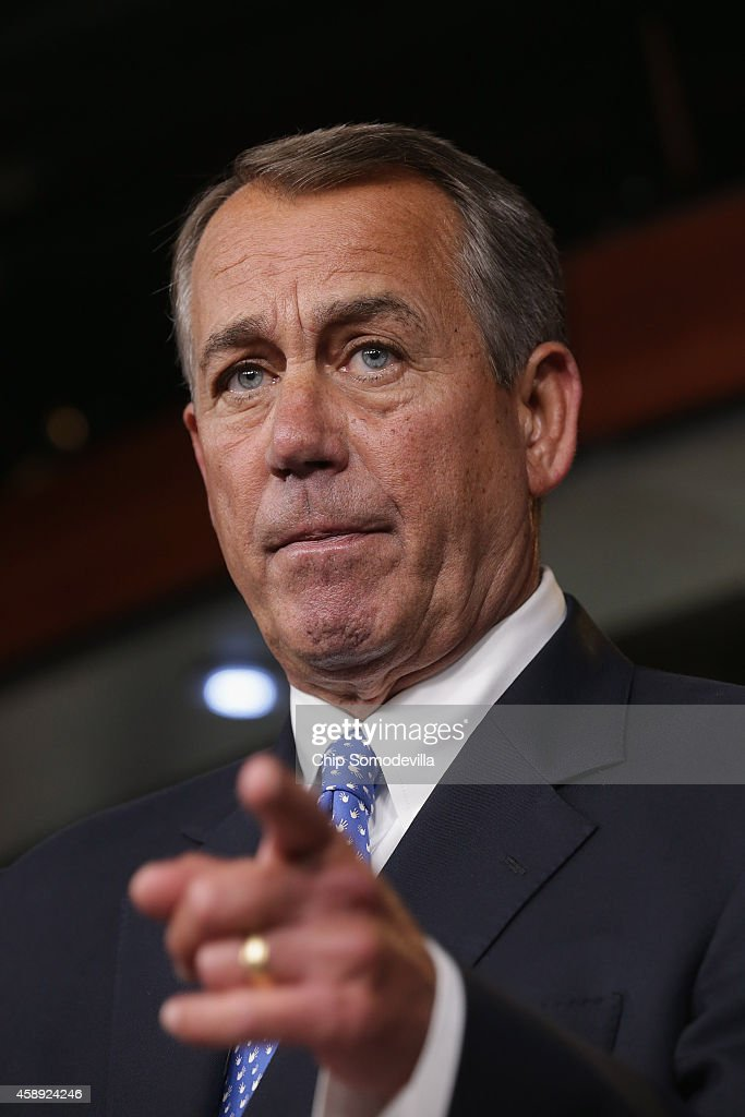 Speaker of the House John Boehner holds a news conference with the newlyelected members of the House GOP leadership at the US Capitol November 13...