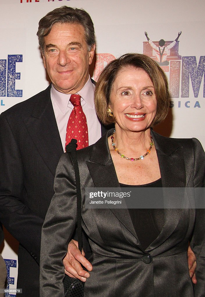U.S. Speaker of the House Nancy Pelosi (R) and her husband Paul Pelosi attends the after party for the Broadway opening of 'Ragtime' at the Tavern On The Green on November 15, 2009 in New York City.