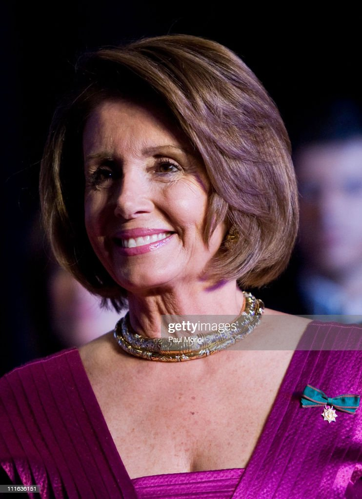 U.S. Speaker of the House <a gi-track='captionPersonalityLinkClicked' href=/galleries/search?phrase=Nancy+Pelosi&family=editorial&specificpeople=169883 ng-click='$event.stopPropagation()'>Nancy Pelosi</a> at the National Italian American Foundation (NIAF) 33rd Anniversary Awards at the Hilton Washington and Towers on October 18, 2008 in Washington, DC.