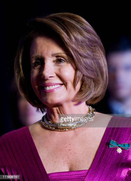 US Speaker of the House Nancy Pelosi at the National Italian American Foundation 33rd Anniversary Awards at the Hilton Washington and Towers on...