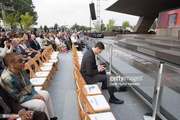 Speaker of the House Paul Ryan attends the opening of the National Museum of African American History and Culture Washington DC September 24 2016