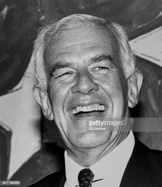 Speaker of the House Rep Thomas Stephen 'Tom' Foley DWash laughs at circus saints and sinners toast for the Speaker Republicans Michel Hyde and...