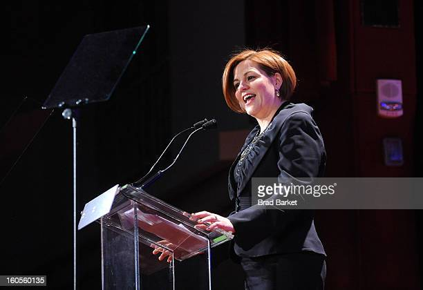 Speaker of the New York City Council Christine Quinn attends The 2013 Greater New York Human Rights Campaign Gala at The Waldorf=Astoria on February...