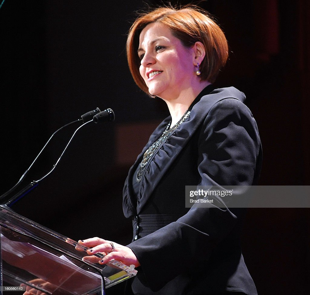 Speaker of the New York City Council <a gi-track='captionPersonalityLinkClicked' href=/galleries/search?phrase=Christine+Quinn&family=editorial&specificpeople=550180 ng-click='$event.stopPropagation()'>Christine Quinn</a> attends The 2013 Greater New York Human Rights Campaign Gala at The Waldorf=Astoria on February 2, 2013 in New York City.