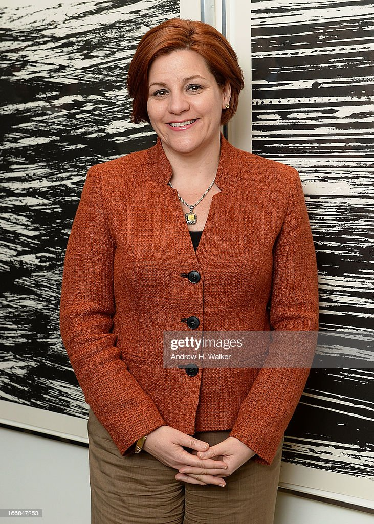 Speaker of the New York City Council Christine Quinn attends the HRC Marriage for Equality USA celebration at the Calvin Klein Boutique on April 17...