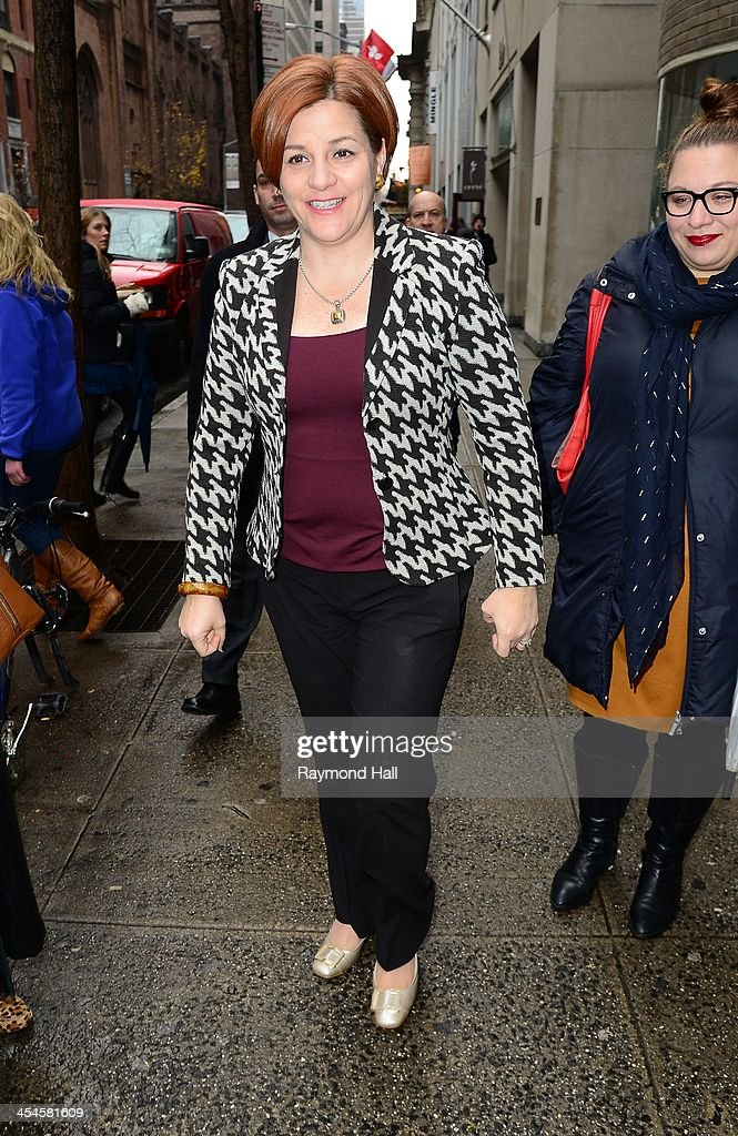 Speaker of the New York City Council Christine Quinn is seen in 'Mindtown Manhattan' on December 9 2013 in New York City