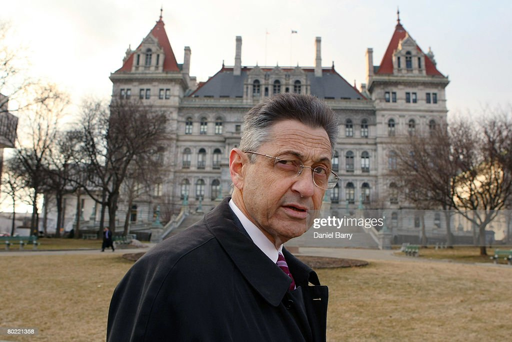 Speaker of the New York State Assembly Sheldon Silver walks in front of the State Capitol March 12, 2008 in Albany, New York. New York State Governor Eliot Spitzer announced his resignation today after various media reports have linked him to a prostitution ring. New York Lieutenant Governor David Paterson will take over for Spitzer when his resignation goes into effect Monday, March 17, 2008.