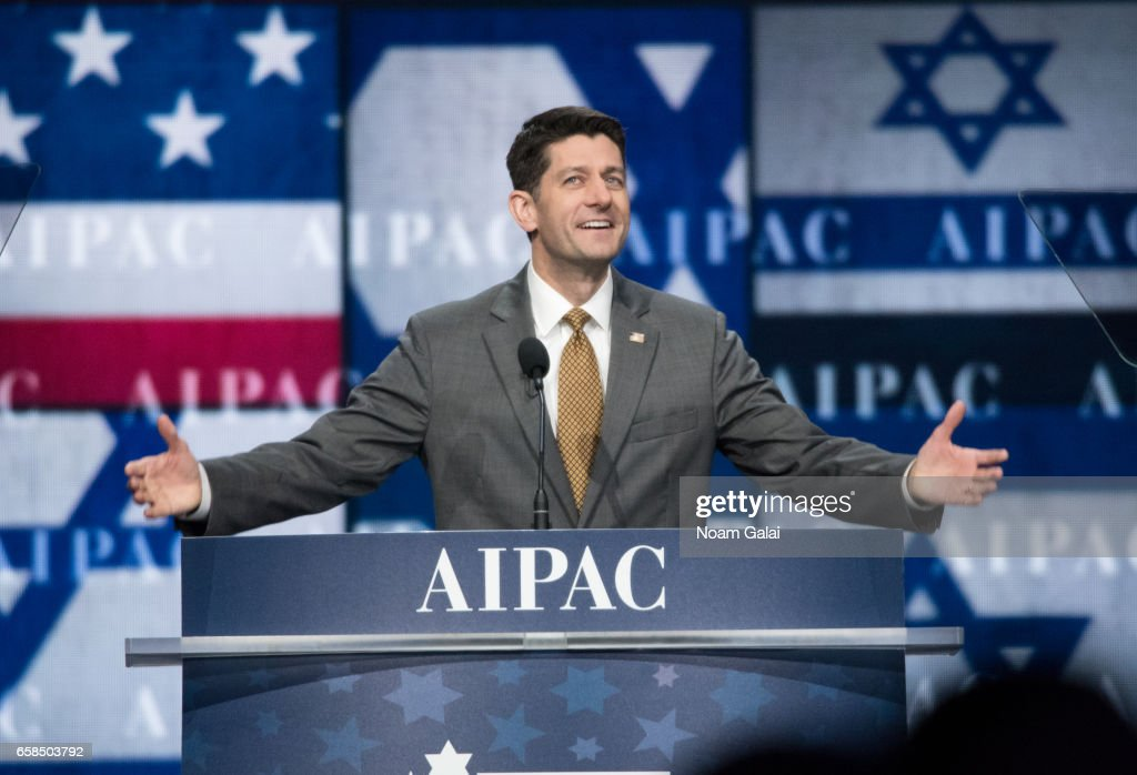 Speaker of the United States House of Representatives Paul Ryan speaks onstage at the AIPAC 2017 Convention on March 27, 2017 in Washington, DC.