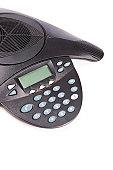 Speaker phone over white background