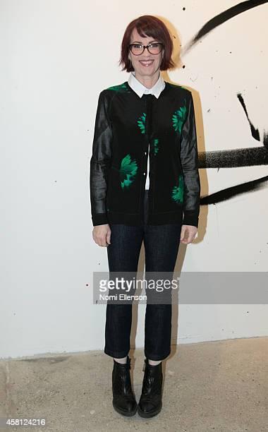 Megan Mullally at AOL Studios In New York on October 30 2014 in New York City
