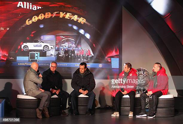 Speaker Stephan Lehmann CEO of FC Bayern Muenchen KarlHeinz Rummenigge CEO of Goodyear Dunlop Tires Germany Juergen Titz Philipp Lahm and Franck...