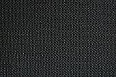 Macro of a speakers mashwork textured in black.