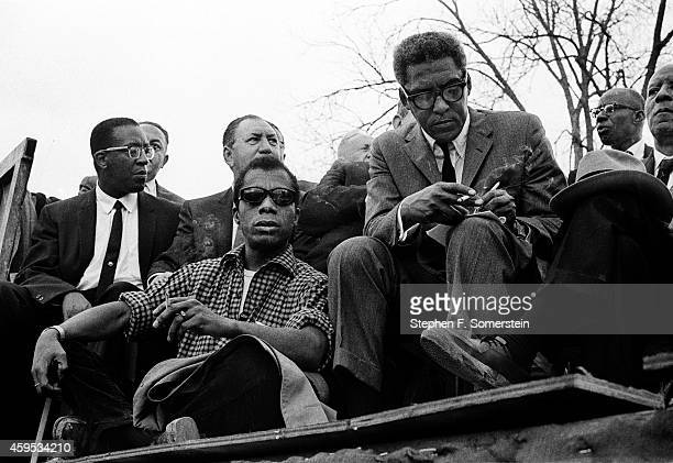 Speakers platform 1965 Selma to Montgomery Alabama Civil Rights March Front row left Author James Baldwin Front row 2nd from left Selma March...