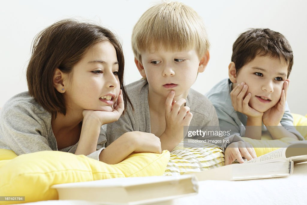 Speaking about book reading : Stock Photo