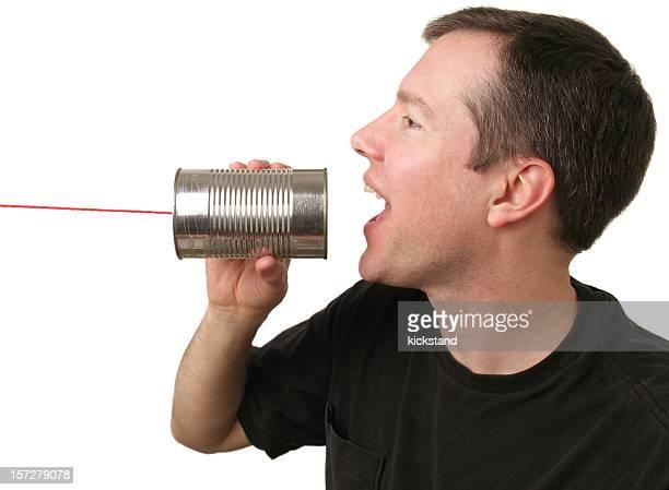 Sprechen Sie in einer Dose kann Telefon