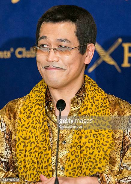 PIKOTARO speaks to the press on October 28 2016 in Tokyo Japan PIKOTARO spoke to the foreign press in Japan on his song Pen Pineapple Apple Pen or...