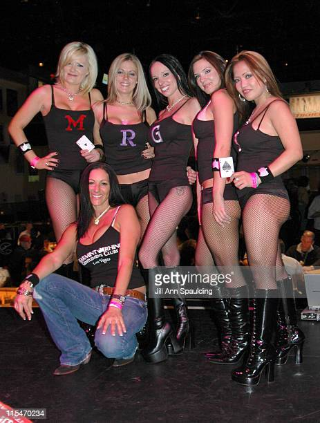 Spearmint Rhino Gentlemens Club Dancers during 'Off the Strip' Charity Poker Tournament at Hard Rock Hotel and Casino in Las Vegas Nevada United...