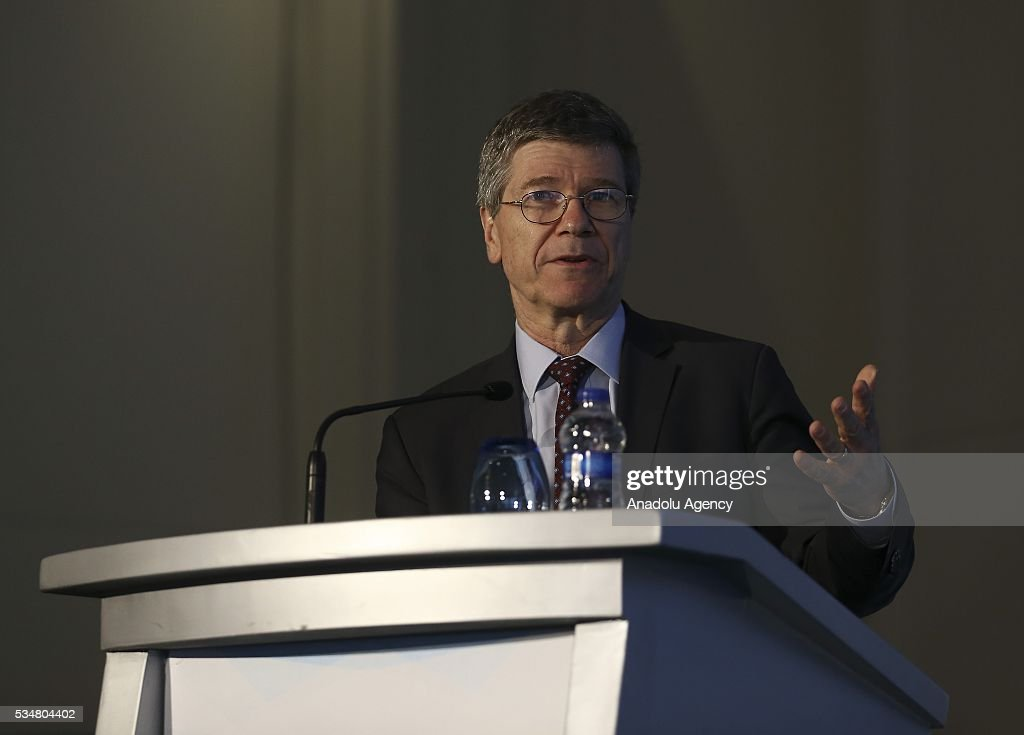 Special Adviser to United Nations Secretary-General Ban Ki-Moon, Jeffrey Sachs attends 'Trade and commodities and economic diversification and graduation' meeting during the Midterm Review of the Istanbul Programme of Action at Titanic Hotel in Antalya, Turkey on May 28, 2016. The Midterm Review conference for the Istanbul Programme of Action for the Least Developed Countries takes place in Antalya, Turkey from 27-29 May 2016.