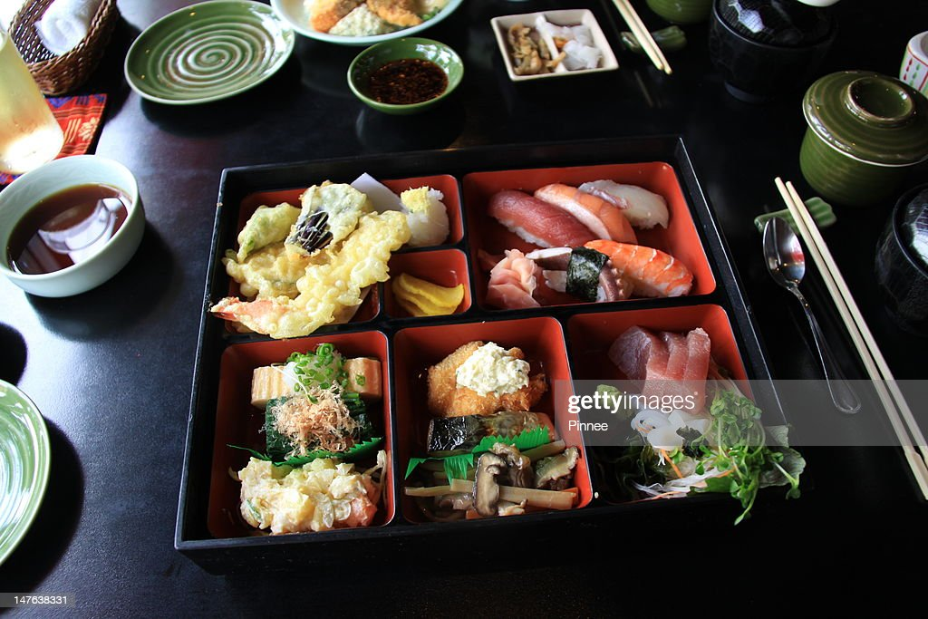 special bento box lunch set stock photo getty images. Black Bedroom Furniture Sets. Home Design Ideas