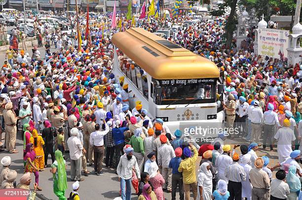 A special bus carrying the relics belonging to Guru Gobind Singh the bus cost approximately two core 40 Lakh Indian rupees used in the making during...