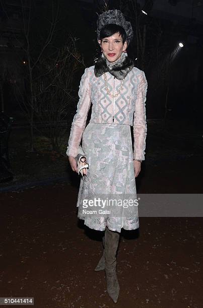 Special Correspondent for Vanity Fair Amy Fine Collins attends the Thom Browne Fall 2016 fashion show during New York Fashion Week on February 15...