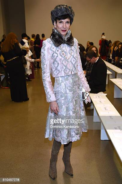 Special correspondent for Vanity Fair Amy Fine Collins attends the Zac Posen Fall 2016 fashion show during New York Fashion Week at Spring Studios on...
