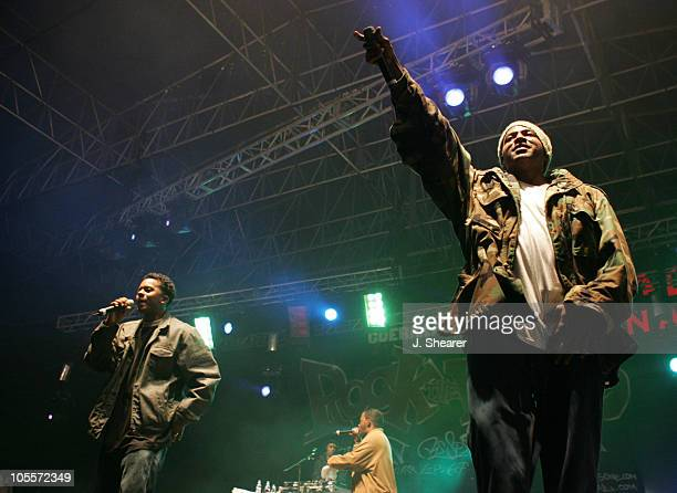 Special Ed performs with A Tribe Called Quest during 'Rock the Bells at Holiday Havoc' Concert November 13 2004 at Angel Stadium in Anaheim...