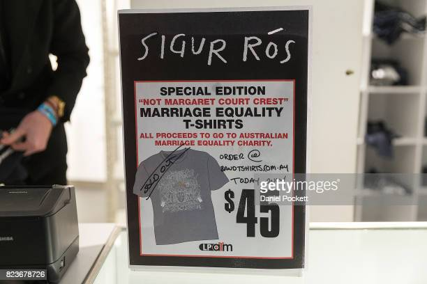 Special Edition 'Not Margaret Court Crest' Marriage Equality TShirts sold out in a very short time as they were in hot demand at Margaret Court Arena...