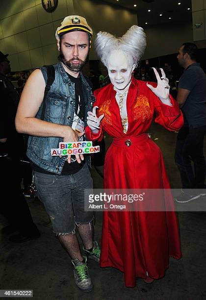 Special effects artist Cig Neutron and cosplayer Rannie Rodil attend Day 2 of the Third Annual Stan Lee's Comikaze Expo held at Los Angeles...