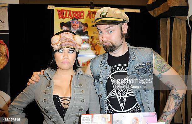 Special effects artist Cig Neutron and cosplayer/artist Rannie Rodill at the 2015 Monsterpalooza Horror Convention held at the Marriott Hotel...