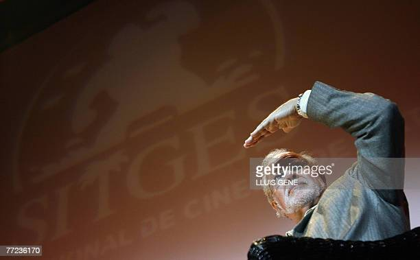 US special effects director Douglas Trumbull of 'Blade Runner the final cut' gestures during a press conference at the Catalonian International film...