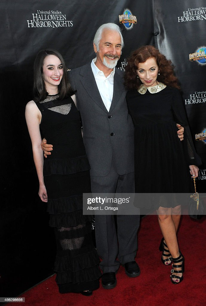 Special Effects Makeup Artist <a gi-track='captionPersonalityLinkClicked' href=/galleries/search?phrase=Rick+Baker&family=editorial&specificpeople=540260 ng-click='$event.stopPropagation()'>Rick Baker</a>, daughter Veronica Baker and wife <a gi-track='captionPersonalityLinkClicked' href=/galleries/search?phrase=Silvia+Abascal&family=editorial&specificpeople=605766 ng-click='$event.stopPropagation()'>Silvia Abascal</a> arrive for Universal Studios Hollywood 'Halloween Horror Nights' Kick Off With The Annual 'Eyegore Awards' held at Universal Studios Hollywood on September 19, 2014 in Universal City, California.