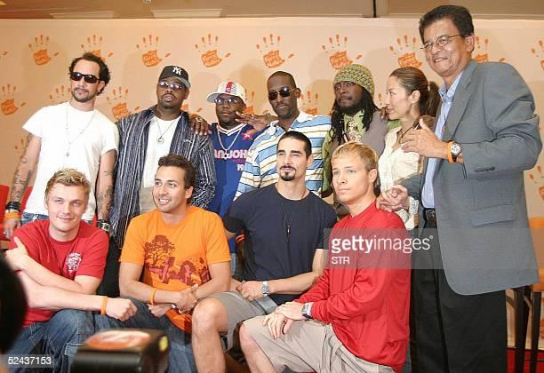 Special Envoy to Malaysia's Tsunami Aid Razali Ismail along with Michelle Yeoh WillIAm of the Black Eyed Peas Boyz II Men and Backstreet Boys group...