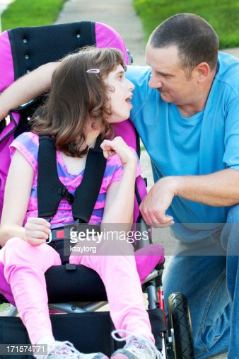 Special father daughter moment : Stock Photo
