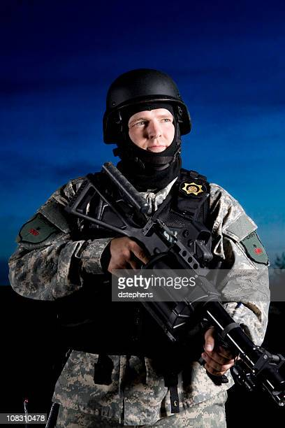 Special forces SWAT officer