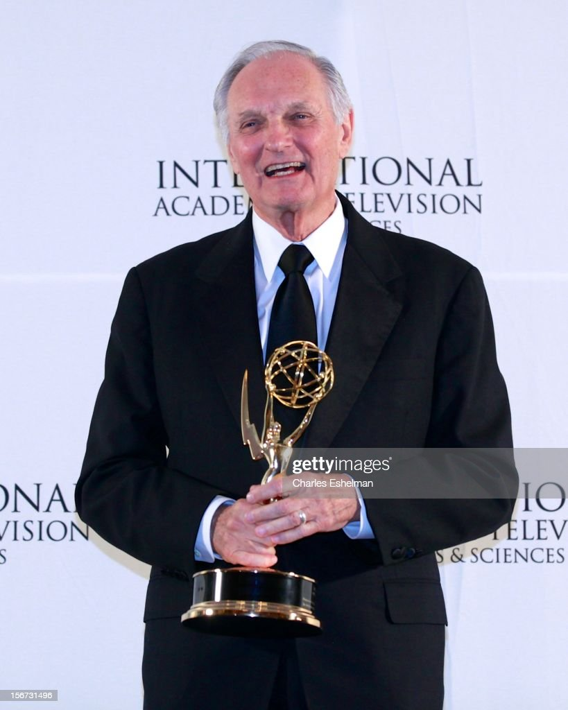 Special Founders award winner <a gi-track='captionPersonalityLinkClicked' href=/galleries/search?phrase=Alan+Alda&family=editorial&specificpeople=206416 ng-click='$event.stopPropagation()'>Alan Alda</a> attends the 40th International Emmy Awards at Mercury Ballroom at the New York Hilton on November 19, 2012 in New York City.
