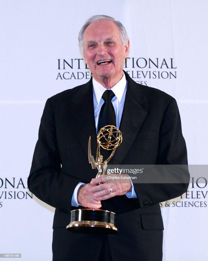 Special Founders award winner Alan Alda attends the 40th International Emmy Awards at Mercury Ballroom at the New York Hilton on November 19, 2012 in New York City.
