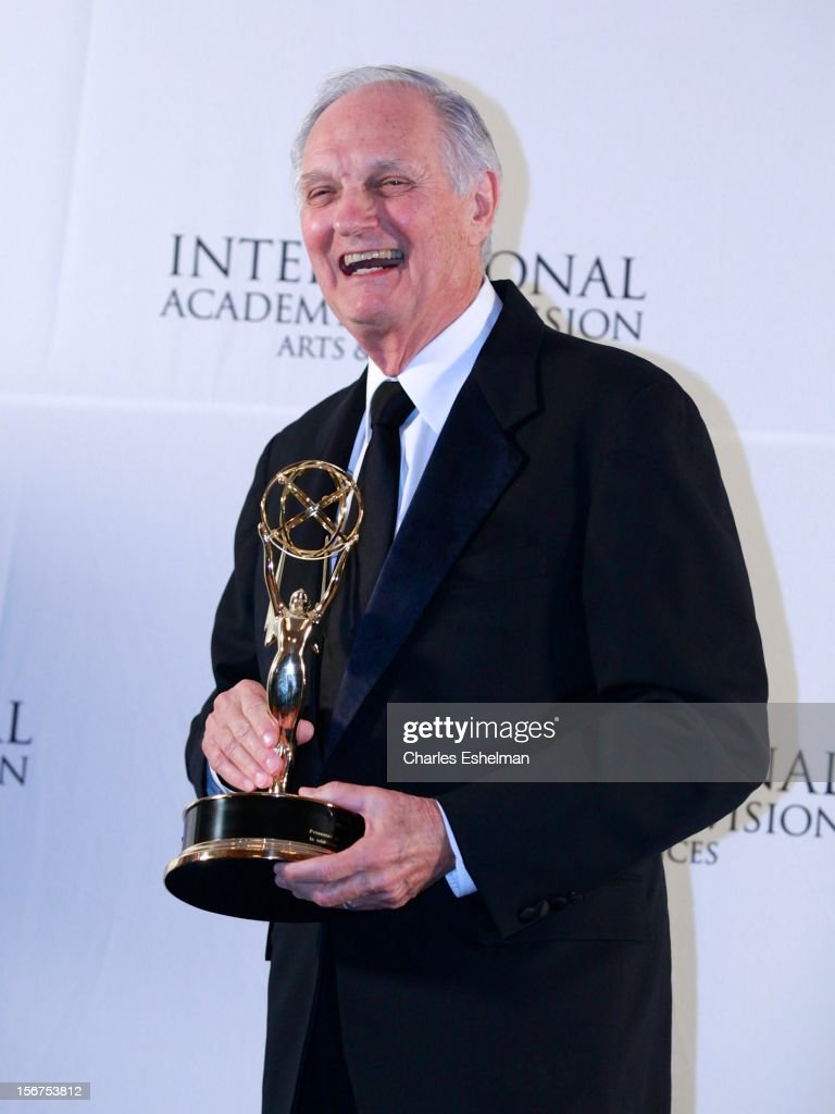Special Founders award winner Alan Alda attends the 40th International Emmy Awards at Mercury Ballroom at the New York Hilton on November 19 2012 in...