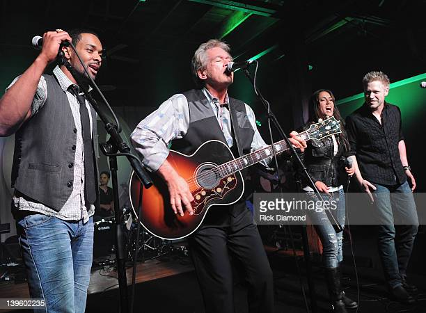 Special Guest Bill Champlin joins THE FARM and performs during Warner Music Nashville's Warner Wednesday at aVenue on February 22 2012 in Nashville...