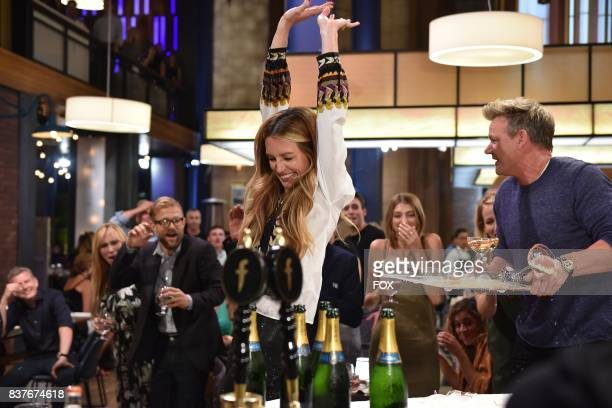 Special guest Cat Deely and host Gordon Ramsay in the Episode Five episode of THE F WORD WITH GORDON RAMSAY airing Wednesday July 14 on FOX