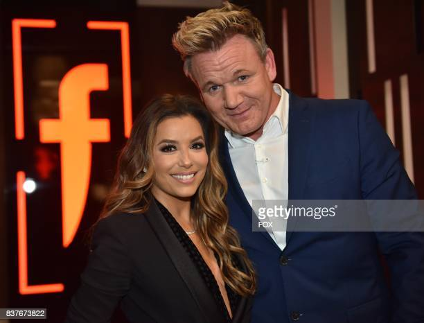 Special guest Eva Longoria and host Gordon Ramsay in the allnew Episode Eleven episode of THE F WORD WITH GORDON RAMSAY airing Wednesday August 16 on...