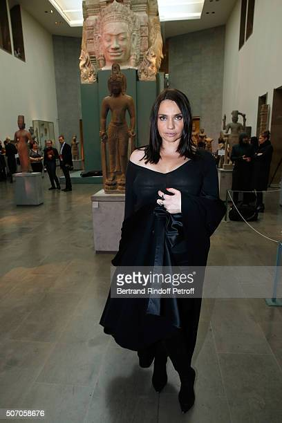 Special Guest of the Collection Actress Beatrice Dalle attends the Franck Sorbier Spring Summer 2016 show as part of Paris Fashion Week Held at Musee...