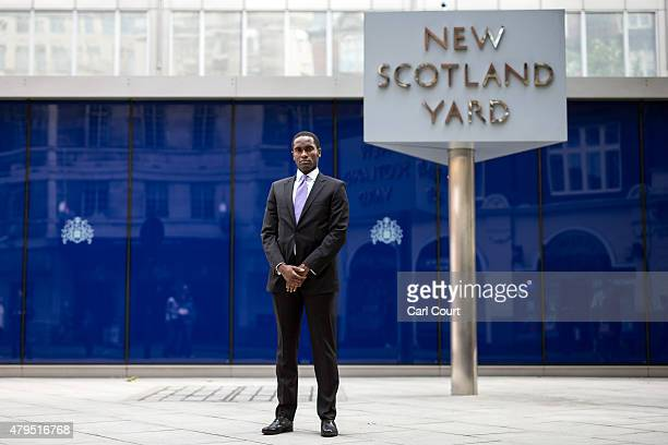 Special Instruction ** Picture Only To Be Used In Conjunction With 7/7** Police Sergeant Shane Joshua is pictured outside New Scotland Yard on June...
