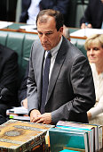 Special Minister of State Mal Brough during House of Representatives question time at Parliament House on December 3 2015 in Canberra Australia Mr...