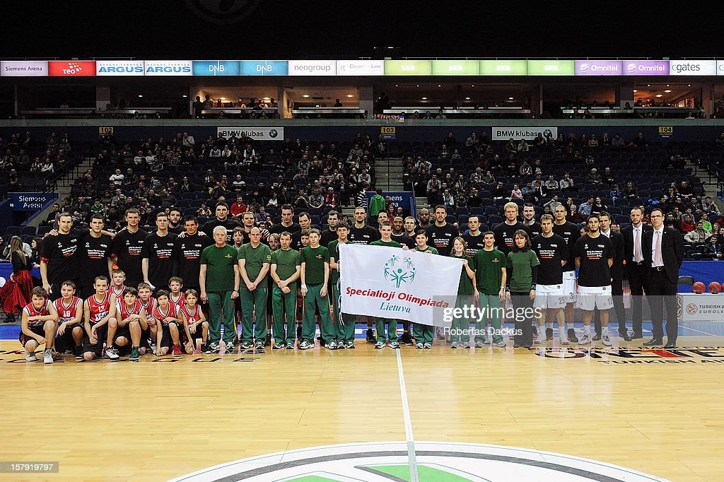 Special Olympics event before the the 2012-2013 Turkish Airlines Euroleague Regular Season Game Day 9 between Lietuvos Rytas Vilnius v Brose Baskets Bamberg at Siemens Arena on December 7, 2012 in Vilnius, Lithuania.