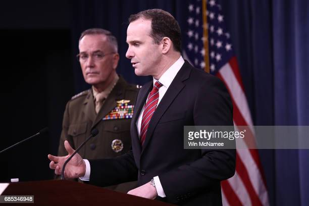 Special Presidential Envoy for the Global Coalition to Counter ISIS Brett McGurk and Chairman of the Joint Chiefs of Staff Marine Gen Joseph F...